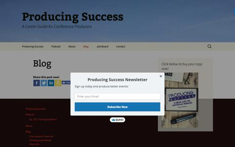 Screenshot of Blog forumplanner.com - Blog | Producing Success - captured Oct. 10, 2018