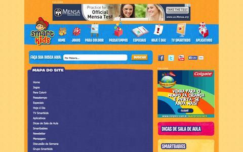 Screenshot of Site Map Page smartkids.com.br - Jogos Educativos, Desenhos para colorir e pintar, Educação infantil - Smartkids - captured Sept. 22, 2014
