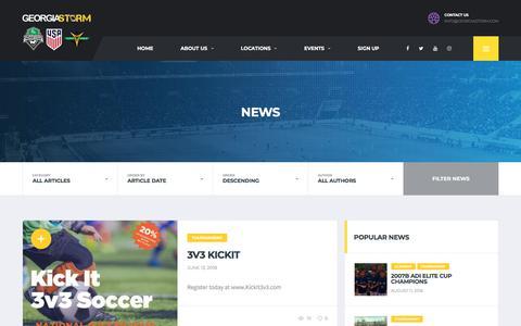 Screenshot of Press Page georgiastorm.com - News – Georgia Storm - captured July 17, 2018