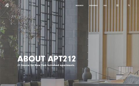 Screenshot of About Page apt212.com - APT212.COM - captured Oct. 2, 2018