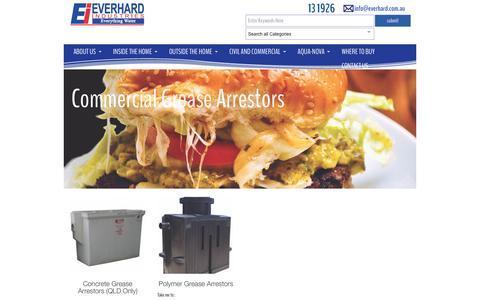 Screenshot of everhard.com.au - Commercial Grease Arrestors Archives - Everhard - captured April 13, 2016