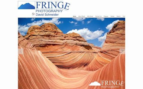 Screenshot of Home Page fringe.com - Fringe Photography by David Schneider - Landscape, nature and wildlife photography - captured Sept. 11, 2015