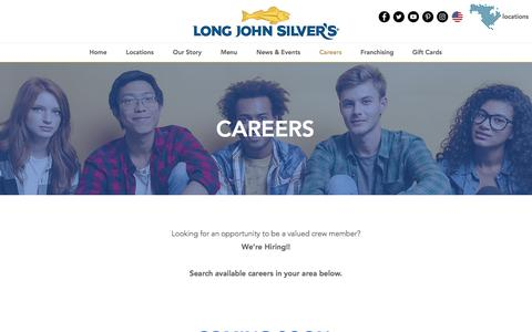 Screenshot of Jobs Page ljsilvers.com - ljsilvers | Careers - captured Jan. 25, 2018