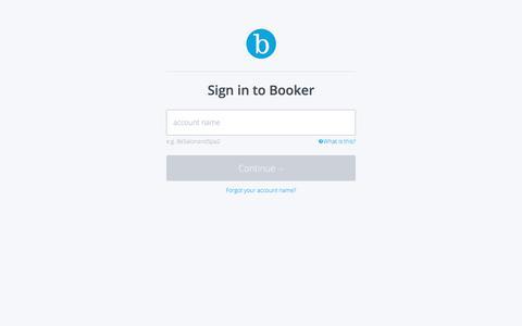 Screenshot of Login Page booker.com - Booker | Sign in - captured Oct. 15, 2019