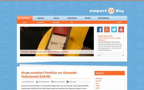 Screenshot of Blog expert.de - expert Blog - captured Sept. 30, 2015