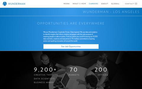 Screenshot of Jobs Page wunderman.com - Careers & Employment | Wunderman - captured July 4, 2018