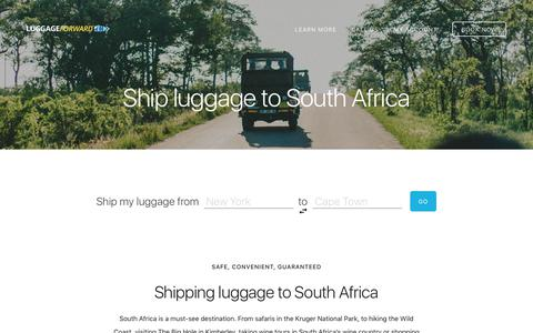 Ship Luggage to South Africa - Guaranteed by Luggage Forward®