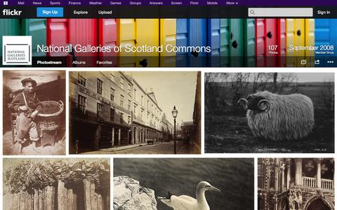 Screenshot of Flickr Page flickr.com - Flickr: National Galleries of Scotland Commons' Photostream - captured Oct. 26, 2014