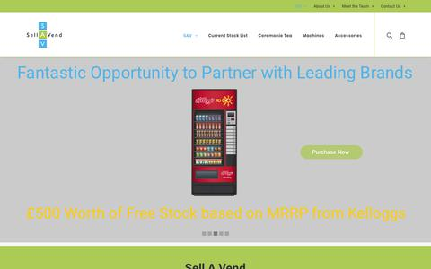 Screenshot of Home Page sell-a-vend.co.uk - Sell a Vend | New and Used Vending Machines | Vending Upgrades - captured Dec. 11, 2018