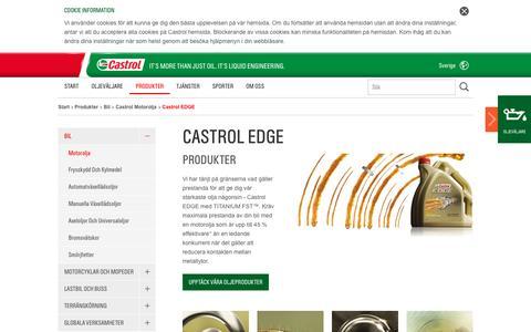 Screenshot of castrol.com - Castrol EDGE   Produkter   Start - captured Oct. 2, 2015