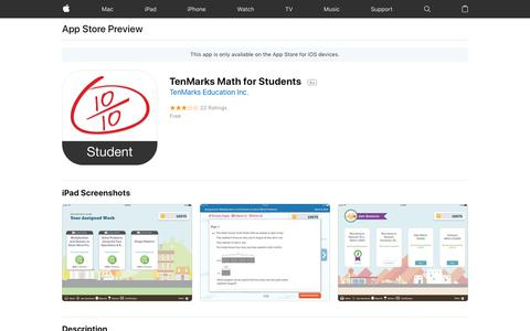 TenMarks Math for Students on the AppStore