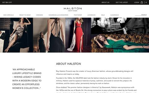 Screenshot of About Page halston.com - House of HALSTON - Company | HALSTON - captured May 14, 2017