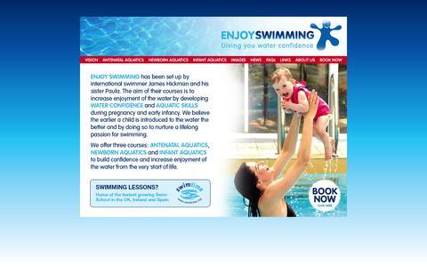 Screenshot of Home Page enjoyswimming.org - Enjoy Swimming   » Home - captured Sept. 30, 2014