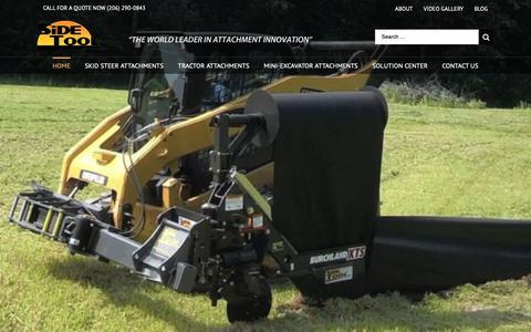Screenshot of Home Page sidetool.com - Sidetool Inc - Construction Equipment Attachments - captured Oct. 20, 2018