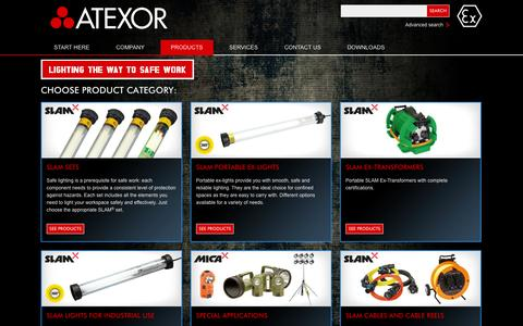 Screenshot of Products Page atexor.com - Atexor Oy - Products - captured Oct. 4, 2014
