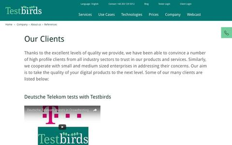 References   Testbirds