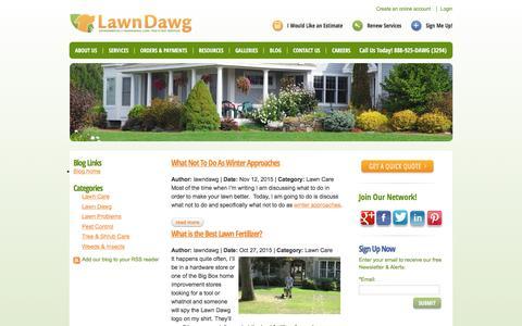 Screenshot of Blog lawndawg.com - LawnDawg Blog - Page 1 | Lawn Dawg - captured Dec. 8, 2015
