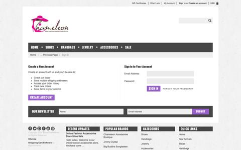 Screenshot of Login Page mybigcommerce.com - ShopChameleon - Sign in - captured Nov. 2, 2014