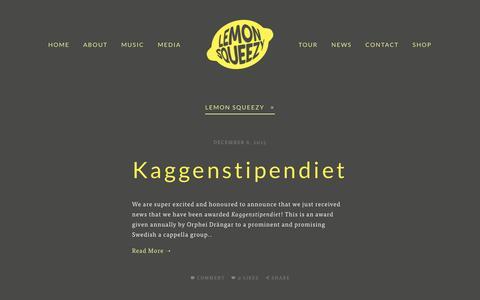 Screenshot of Blog lemonsqueezy.se - Blog — Lemon Squeezy - captured May 7, 2016