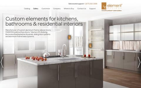 Screenshot of Home Page element-designs.com - ºelement Designs - captured July 11, 2014
