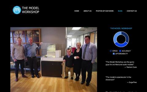 Screenshot of Blog themodelworkshop.com - BLOG Ń The Model Workshop: architectural scale model makers - captured Jan. 12, 2016
