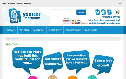 Screenshot of About Page wesellcarmats.co.uk - About  Us - captured Nov. 5, 2014