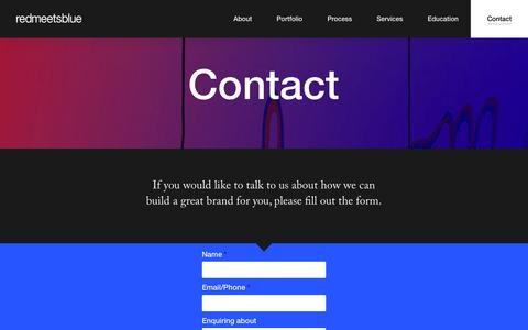 Screenshot of Contact Page redmeetsblue.com.au - Contact | Red Meets Blue - captured Feb. 26, 2016
