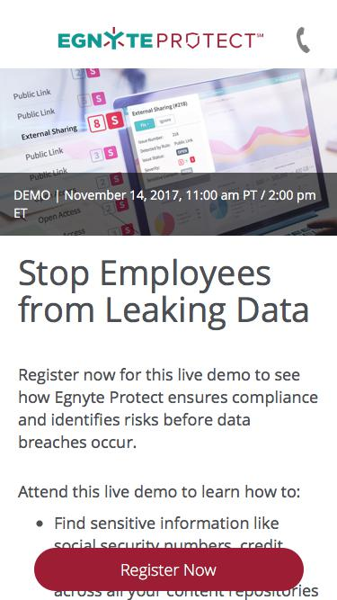 Egnyte I Protect Demo