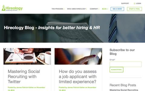 Screenshot of Blog hireology.com - Hireology Blog - captured Nov. 17, 2015