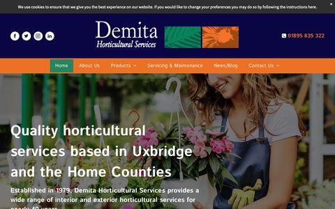 Screenshot of Home Page demita.co.uk - Horticultural Services | Demita Horticultural Services - captured Nov. 13, 2018