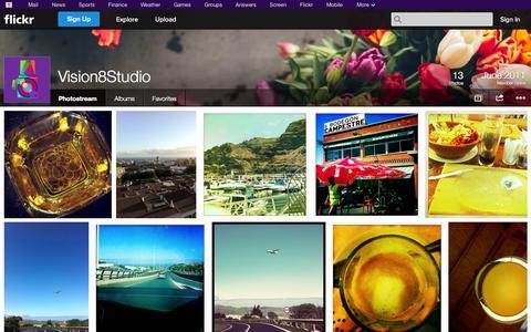 Screenshot of Flickr Page flickr.com - Flickr: Vision8Studio's Photostream - captured Oct. 25, 2014