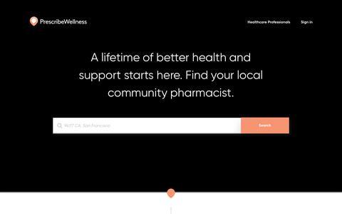 Screenshot of Home Page prescribewellness.com - Home | PrescribeWellness - captured July 9, 2017