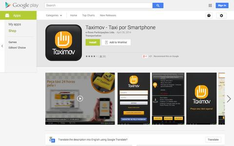 Screenshot of Android App Page google.com - Taximov - Taxi por Smartphone - Android Apps on Google Play - captured Oct. 22, 2014