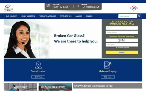 Screenshot of Home Page Site Map Page windshieldexperts.com - Windshield Experts | Windshield Repair | Auto Glass Repair | Auto Safety Glass Replacement Services India - captured Oct. 12, 2017