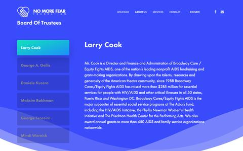 Screenshot of Team Page nomorefearfoundation.org - Our Team | No More Fear Foundation - captured Oct. 20, 2018
