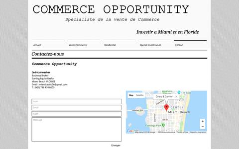 Screenshot of Contact Page commerce-opportunity.com - Contact | États-Unis | Commerce Opportunity - captured Oct. 29, 2018