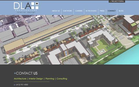 Screenshot of Contact Page dlaplus.com - Contact   DLA+ Architecture & Interior Design - captured Feb. 24, 2016