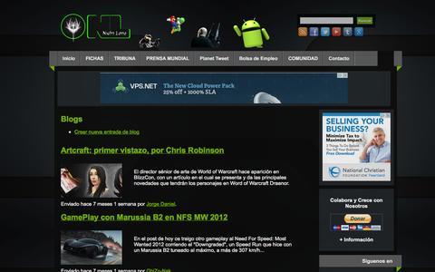 Screenshot of Blog nightlotto.com - Blogs   Night Lotto   Videojuegos: Android, PC, PlayStation, Nintendo, Xbox, iOS, Windows, Linux, MacOS: Videojuegos, Noticias, Wikis, Trucos, Guias, Foro - captured Sept. 26, 2014