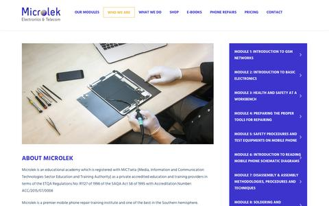 Screenshot of About Page microlek.co.za - Microlek - captured May 26, 2017