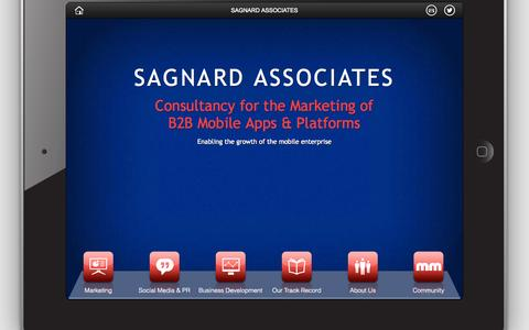 Screenshot of Home Page sagnard.biz - SAGNARD ASSOCIATES Mobile Enterprise Marketing - captured Oct. 4, 2014