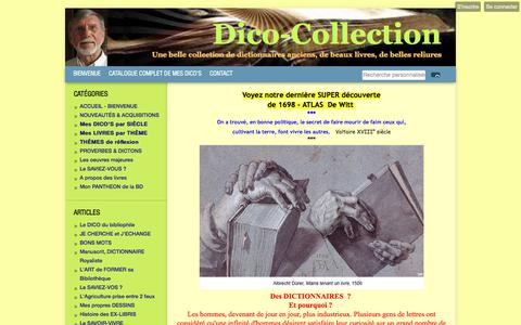 Screenshot of Home Page dico-collection.com - Grande collection de DICTIONNAIRES ANCIENS - captured March 22, 2018