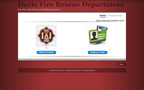 Screenshot of Home Page daviefire.com - Home | Davie Fire Rescue Department - captured Oct. 7, 2018