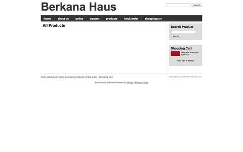 Screenshot of Products Page berkanahaus.com - All Products, Berkana Haus - captured Sept. 30, 2014