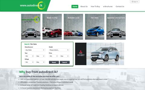 Screenshot of Contact Page autodirect.lk - Autodirect.lk   Home - captured Sept. 29, 2015