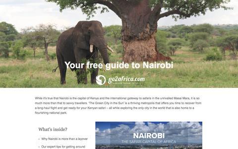 Screenshot of Landing Page go2africa.com - Go2Africa's Digital Travel Magazine: Edition 4 - captured April 23, 2017