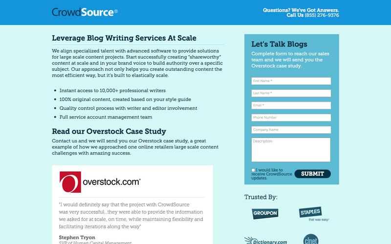Blog Writing Services at Scale | CrowdSource