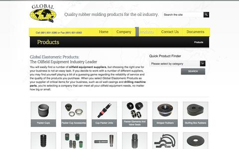 Screenshot of Products Page globaleee.com - Oilfield Packer | Cup Packers | Oil Shearout Joints | Globaleee.com - captured Oct. 2, 2014