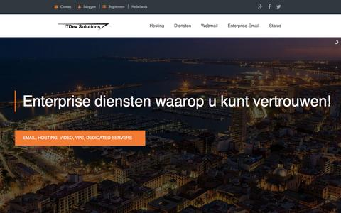 Screenshot of Home Page itdev.nl - ITDev Solutions - Enterprise Hosting - captured Nov. 19, 2016