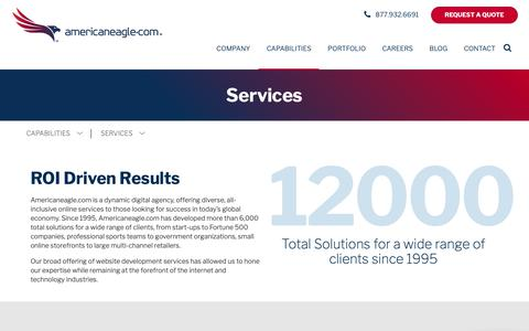 Screenshot of Services Page americaneagle.com - Website Development Services | Americaneagle.com - captured March 6, 2019