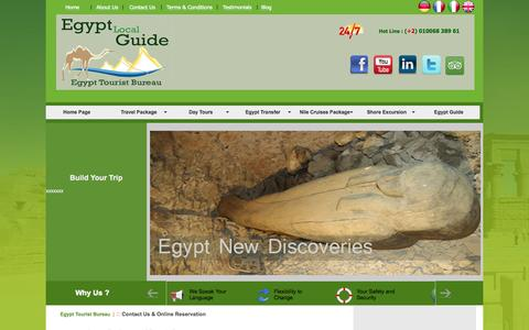 Screenshot of Contact Page egyptouristbureau.com - Egypt Tourist Bureau | Day Tours Package - captured Oct. 2, 2014